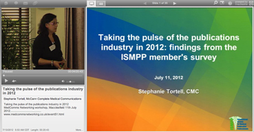 Webcast: Taking the pulse of the publications industry in 2012: findings from the ISMPP member's survey